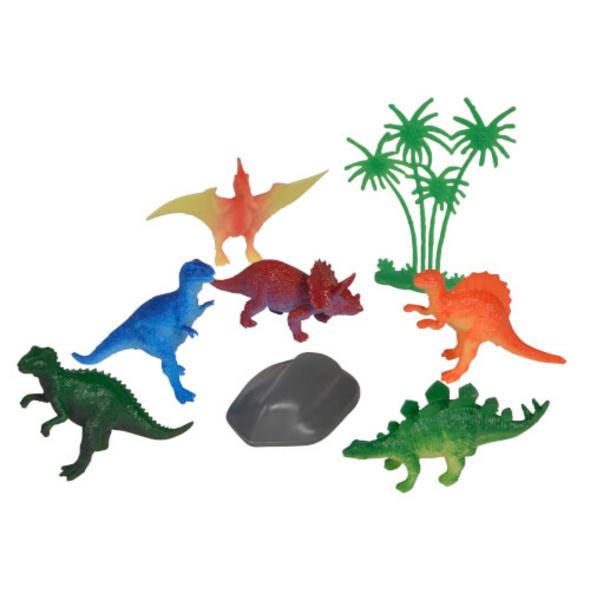 Dinosaurier in Schatztruhe