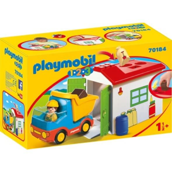 Playmobil 70184 LKW mit Sortiergarage