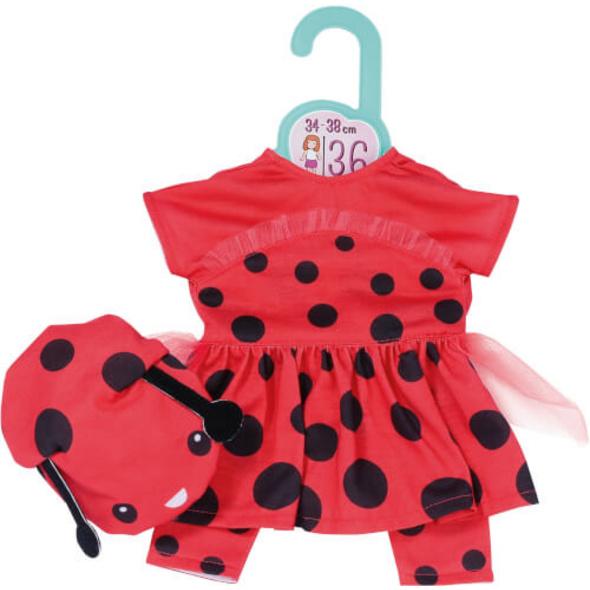 Dolly Moda Süßes Marienkäfer Outfit 36 cm