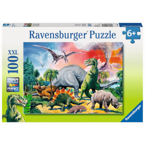 Ravensburger 10957 Puzzle Unter Dinosauriern 100 Teile