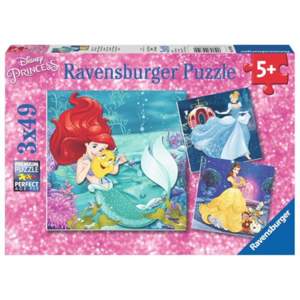 Ravensburger 09350 Puzzle Abenteuer der Prinzessinnen 3 x 49 Teile