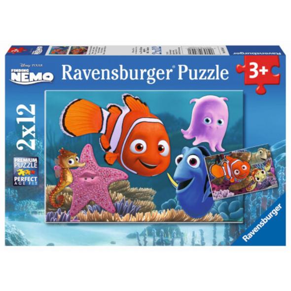 Ravensburger 07556 Puzzle Disney Nemo der kleine Ausreißer 2 x 12 Teile