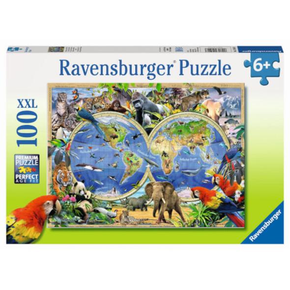 Ravensburger 10540 Puzzle Tierisch um die Welt 100 Teile