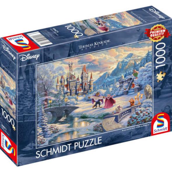 Schmidt Spiele Puzzle Thomas Kinkade, Disney, Die Schöne und das Biest, 1000 Teile