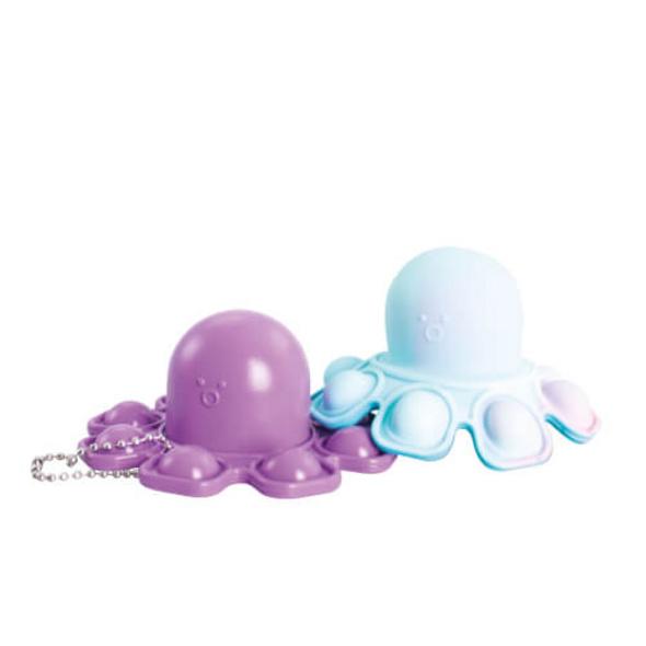 Bubble Fidget - Oktopus marble zweiseitig (türkis+lila)