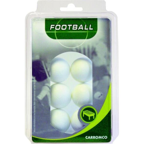 carromco Kickerbälle 6 x weiß im Blister