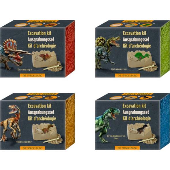 Mini-Ausgrabungsset Dino-Figur T-Rex World, sortiert