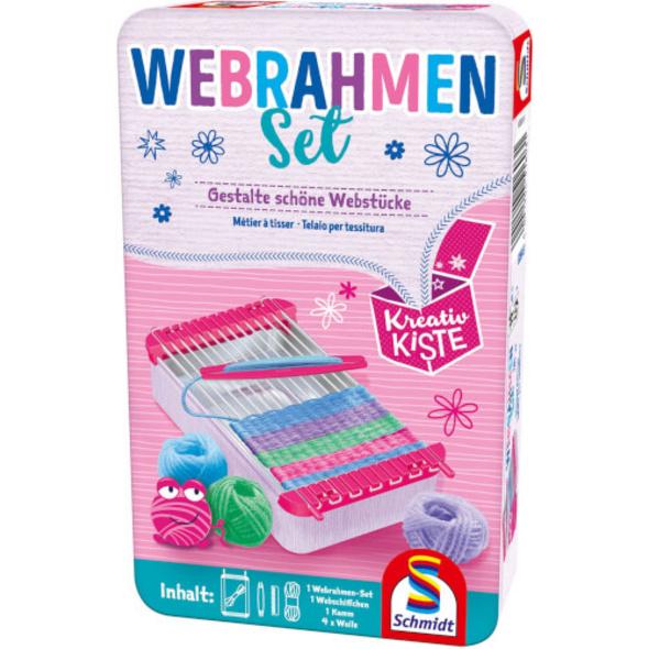 Schmidt Spiele 51603 Webrahmen-Set, Bring-Mich-Mit-Spiel in Metalldose, ab 5 Jahre