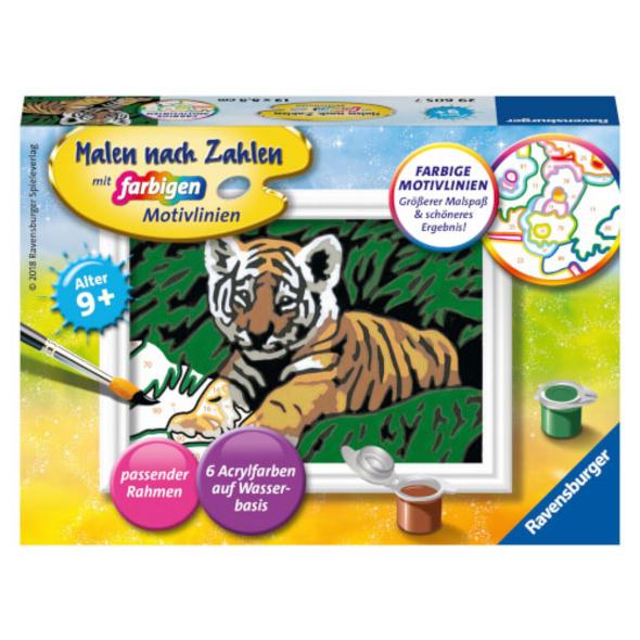 Ravensburger 29605 Malen nach Zahlen Süßer Tiger