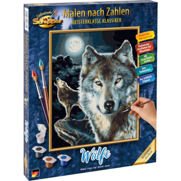 Simba Schipper Malen nach Zahlen - Wölfe