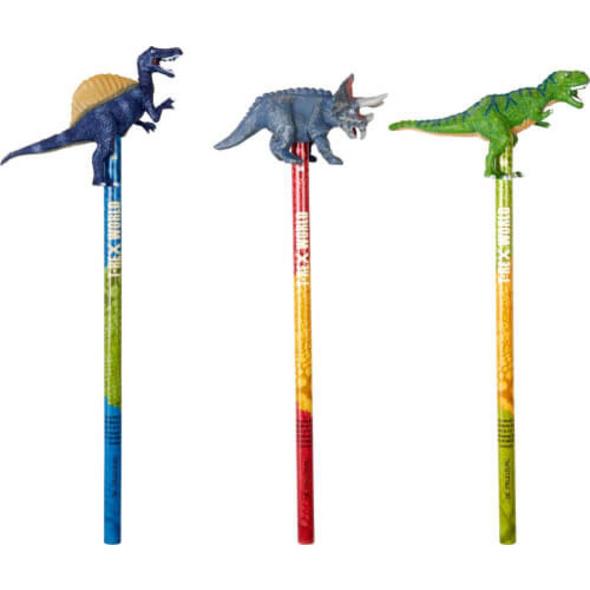 Topper-Bleistift T-Rex World, sortiert
