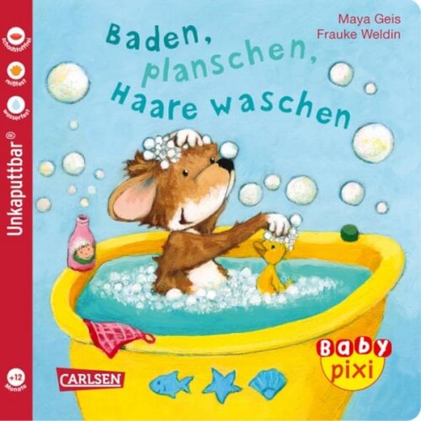 Buch Baby Pixi - Band 62: Baden, planschen, Haare waschen, 16 Seiten, ab 12 Monaten
