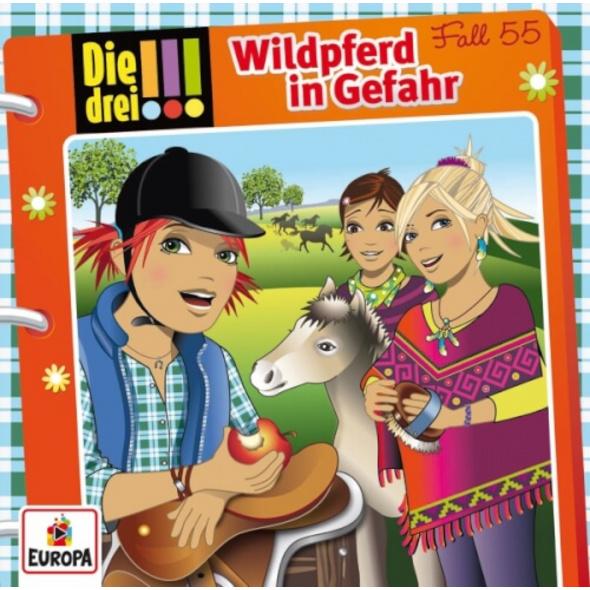 KOSMOS Die drei !!! CD-Hörspiel: Folge 55 Wildpferd in Gefahr