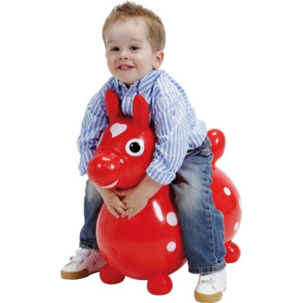 Jakobs 4019960 - Hüpfpferd Rody, rot, ca. 54 cm, ab 3 Jahren