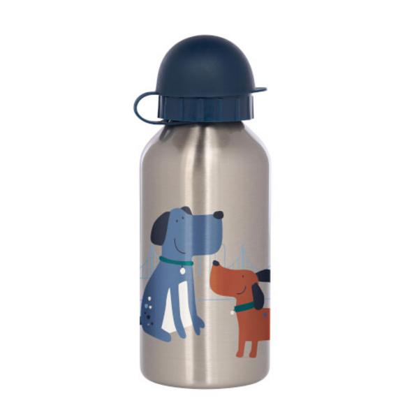 Sigikid 25098 Edelstahl-Trinkflasche Hund Green