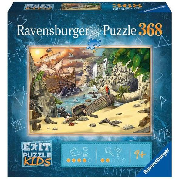 Ravensburger 12954 - Exit Kids, Piratenabenteuer, Rätsel-Puzzle,