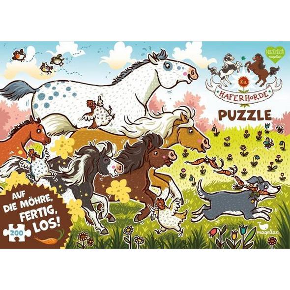 Die Haferhorde Puzzle - Auf die Möhre, fertig, los! (Kinderpuzzle)