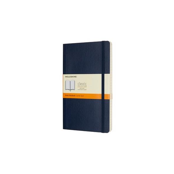 Moleskine Notizbuch L/a5, Liniert, Soft Cover, Saphir