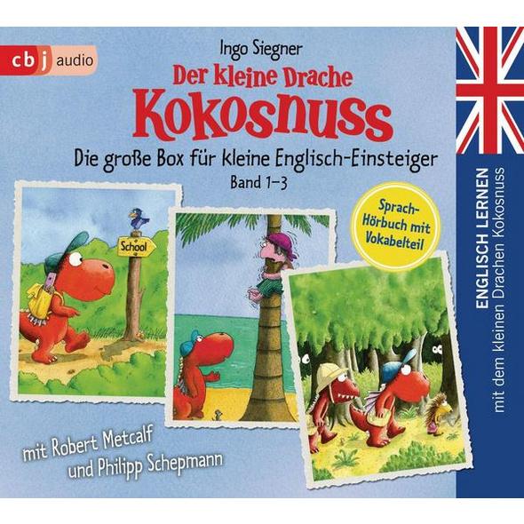 Englisch lernen mit dem kleinen Drachen Kokosnuss - Die große Box für kleine Englisch-Einsteiger (Band 1-3)