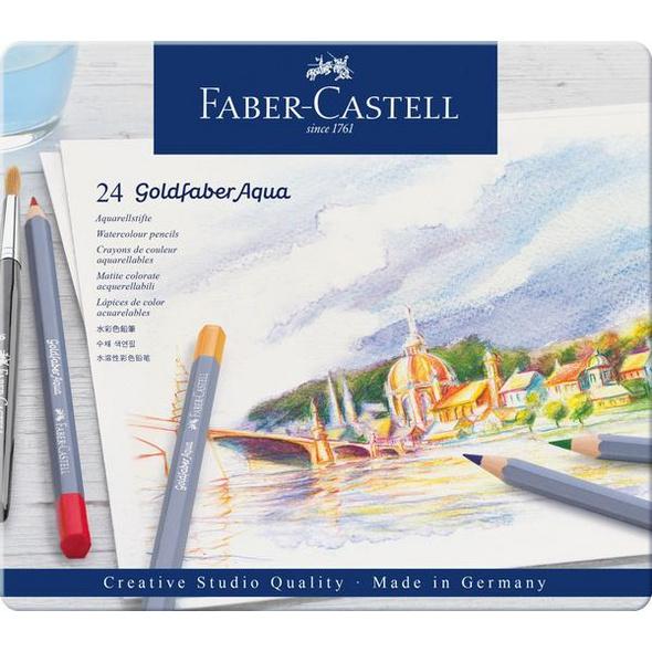 Faber-Castell Aquarellstifte Goldfaber Aqua, 24er Set Metalletui