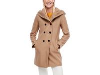 Melierter Mantel aus Wollmix - Wollmix-Mantel
