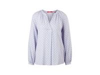 Dobby-Bluse mit Allover-Print - Bluse