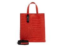 Tragetasche mit Krokoprägung - Paper Bag Kroko Tote M