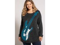 Pullover, Gitarrenmotiv, weicher Feinstrick