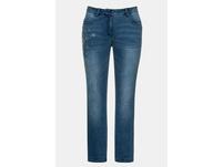 Jeans Sammy, Taschen mit Ziersteinchen, konische Passform