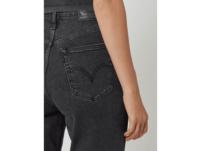 High Waist Tapered Fit Jeans mit Stretch-Anteil