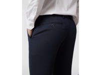 Slim Fit Business-Hose mit Webmuster