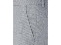 Slim Tapered Fit Anzughose aus Bio-Baumwolle und Leinen Modell 'Will'
