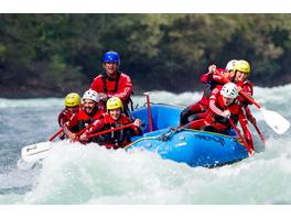 Wildwasser-Rafting im 3er-Boot im Oetztal