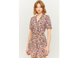 Mini Kleid mit Blumen & Knöpfen