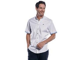 Modisches Kurzarmhemd mit Kontrastbesatz am Ärmel