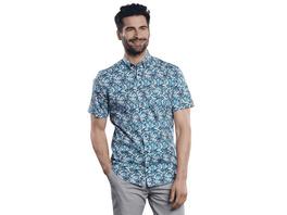 Modisches Kurzarmhemd mit floraler Musterung