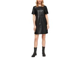 Ausgestelltes Kleid im Leder-Look - Kleid
