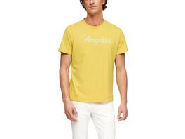 Jerseyshirt mit Flockprint - T-Shirt