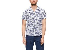 Regular: Hemd mit Palmenprint - Kurzarmhemd