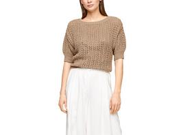 Ajour-Pullover mit Strickmuster - Pullover