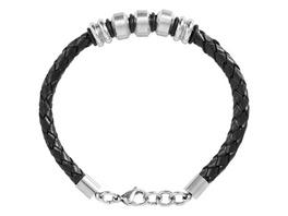 Armband - Leder & Stahl