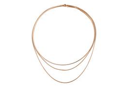 Flexibler Halsreif mit Kettenelement - Halskette