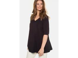 Ulla Popken T-Shirt, Rücken-Zierfalten, A-Line, selection - Große Größen