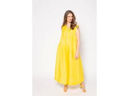 Ulla Popken Leinencrash-Kleid, Zipper, ärmellos, selection - Große Größen