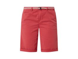 Chino-Shorts mit Flechtgürtel