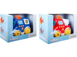 SpielMaus Baby Press & Go Fahrzeuge, 2-fach sortiert, Babyspielzeug, ca. 13x7,5x11cm, ab 12 Monaten (nicht frei wählbar)