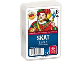 ASS Skat Leinen, französisches Bild. Kartenspiel