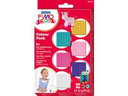 STAEDTLER FIMO kids - 6er-Colour-Pack ''Girlie'' (6x42 g)