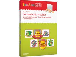 bambinoLÜK Set Konzentrationsspiele, Sondereinband, von 3 - 5 Jahren