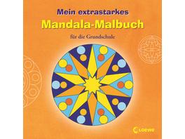 Loewe Mein extrastarkes Mandala-Malbuch für die Grundschule, orange